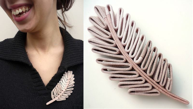Broches plume 14