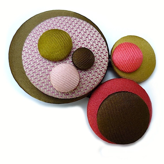 Broches pastilles 6
