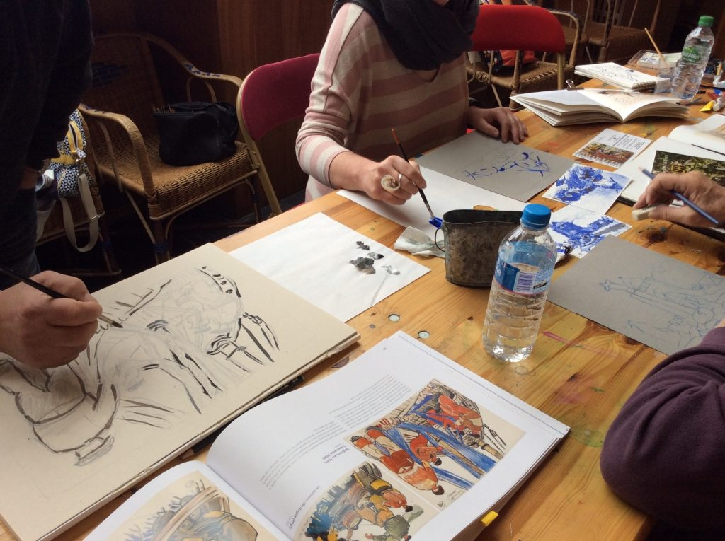 Stage de peinture à Dinan 8