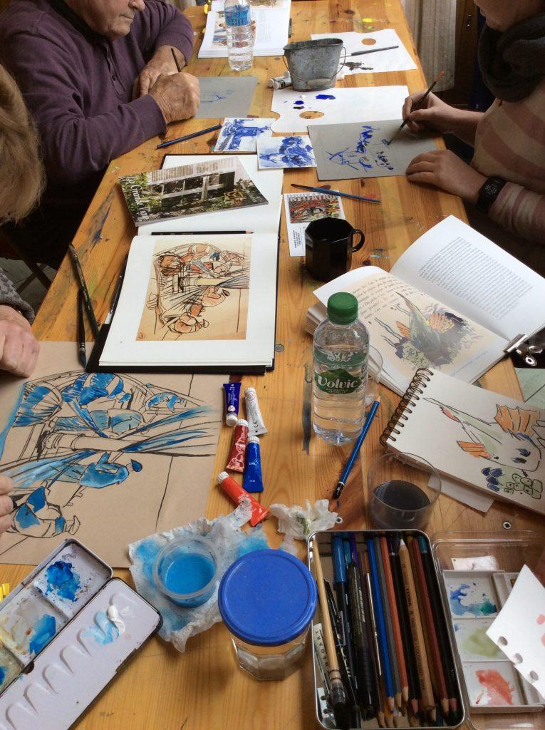 Stage de peinture à Dinan 2